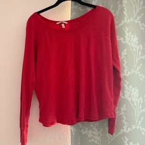 A red pajama top from victoria's secret